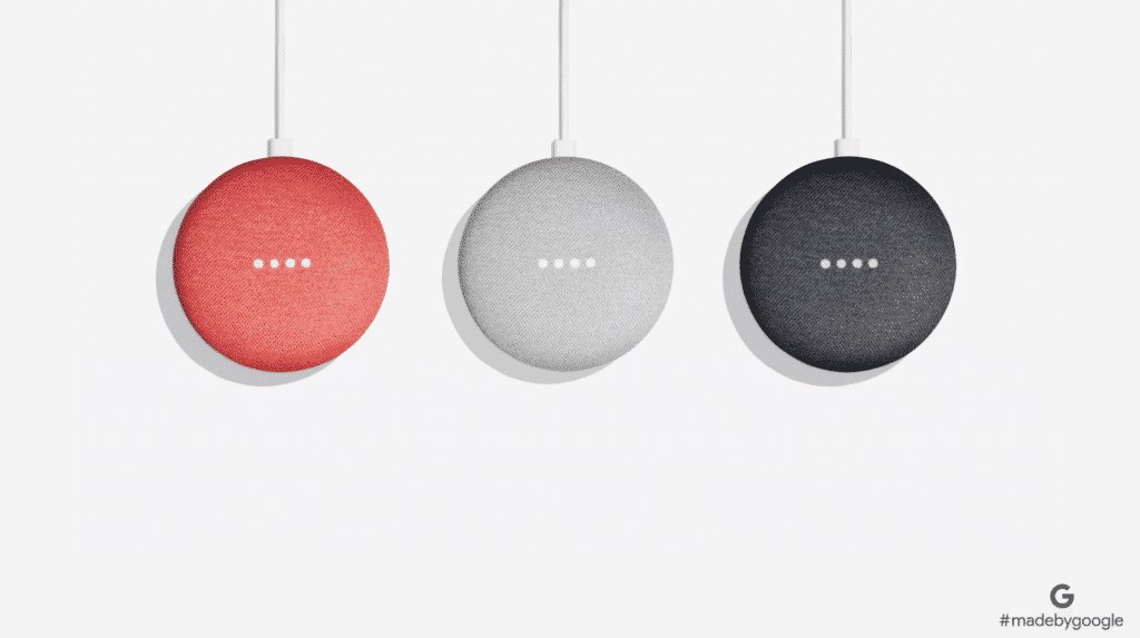 Google Home mini 3 couleurs
