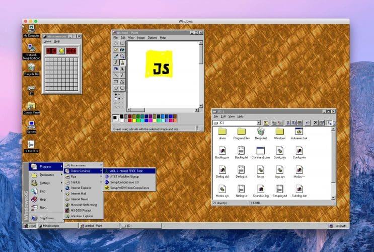 Windows 95 est de retour dans une VM