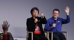 Miyamoto lors de la présentation de Super Mario Run, image d'illustration